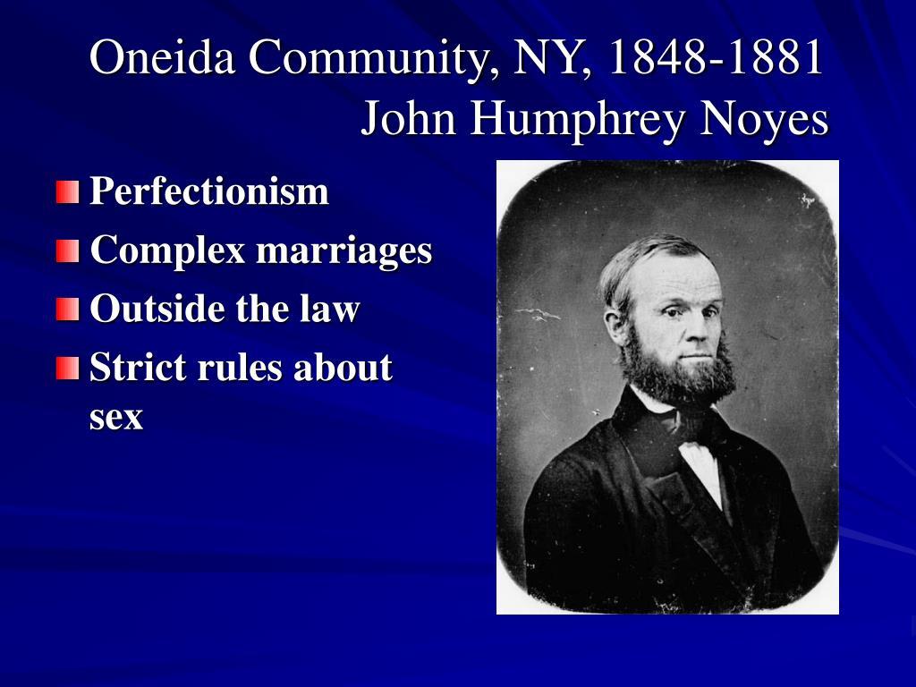 Oneida Community, NY, 1848-1881