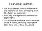 recruiting retention
