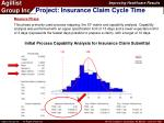 project insurance claim cycle time