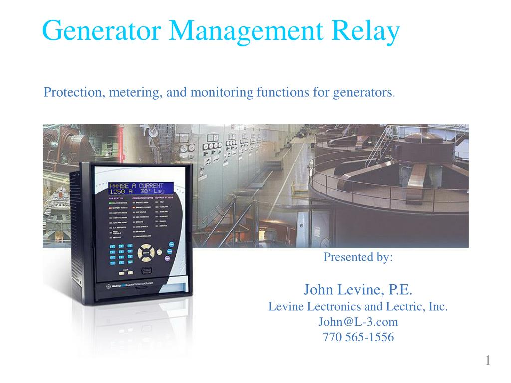 generator management relay l.