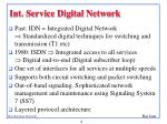 int service digital network