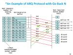 an example of arq protocol with go back n