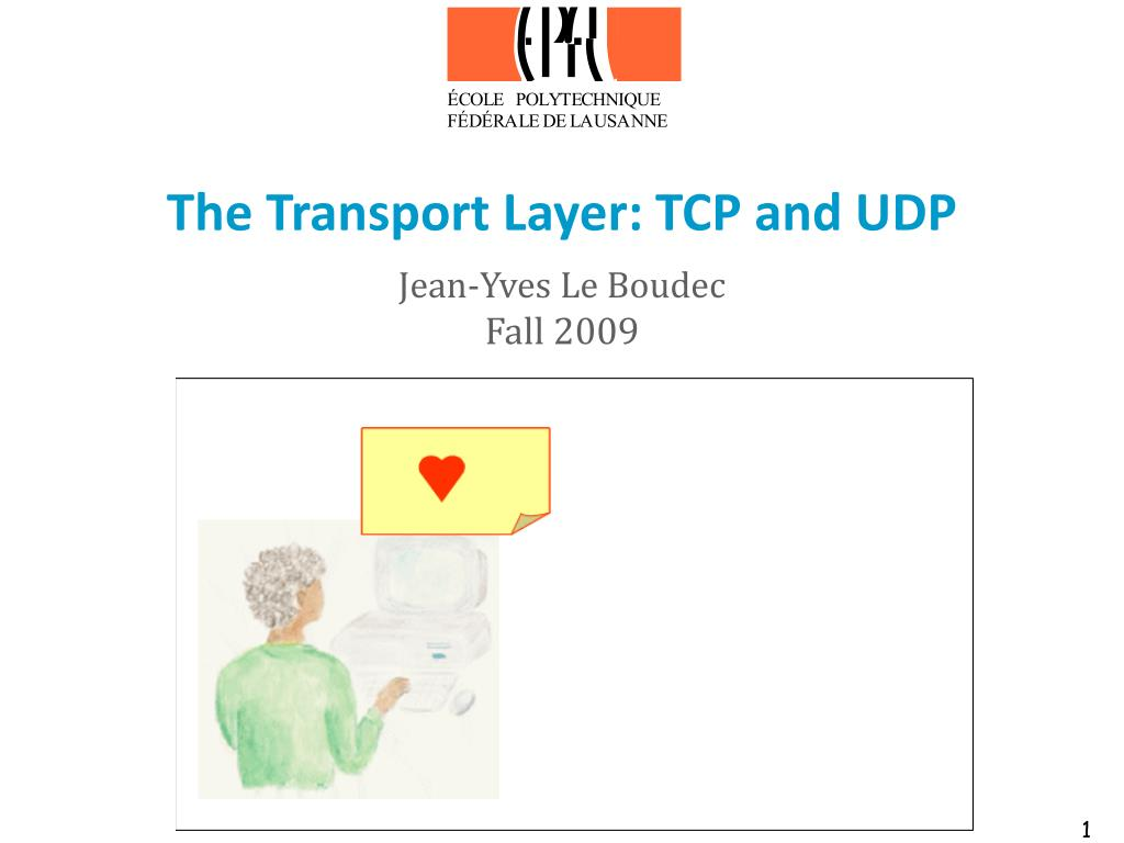 the transport layer tcp and udp l.