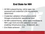end state for nih