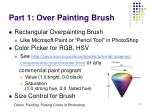 part 1 over painting brush
