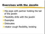 exercises with the javelin
