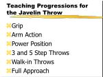 teaching progressions for the javelin throw