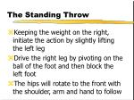 the standing throw