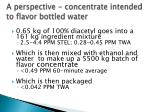 a perspective concentrate intended to flavor bottled water