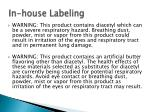 in house labeling