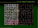 on to object detection