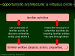 opportunistic architecture a virtuous circle
