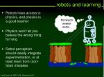robots and learning