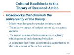 cultural roadblocks to the theory of reasoned action