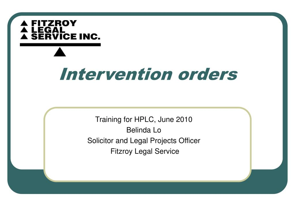 intervention orders l.