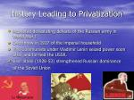 history leading to privatization