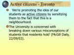 active citizens toronto