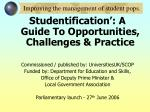 improving the management of student pops