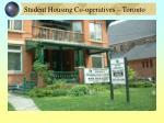 student housing co operatives toronto