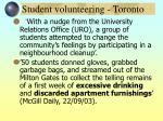 student volunteering toronto