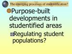 the emerging processes of studentification27