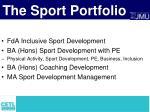 the sport portfolio