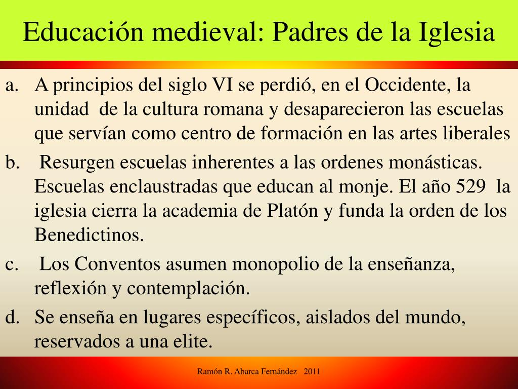 Educación medieval: Padres de la Iglesia
