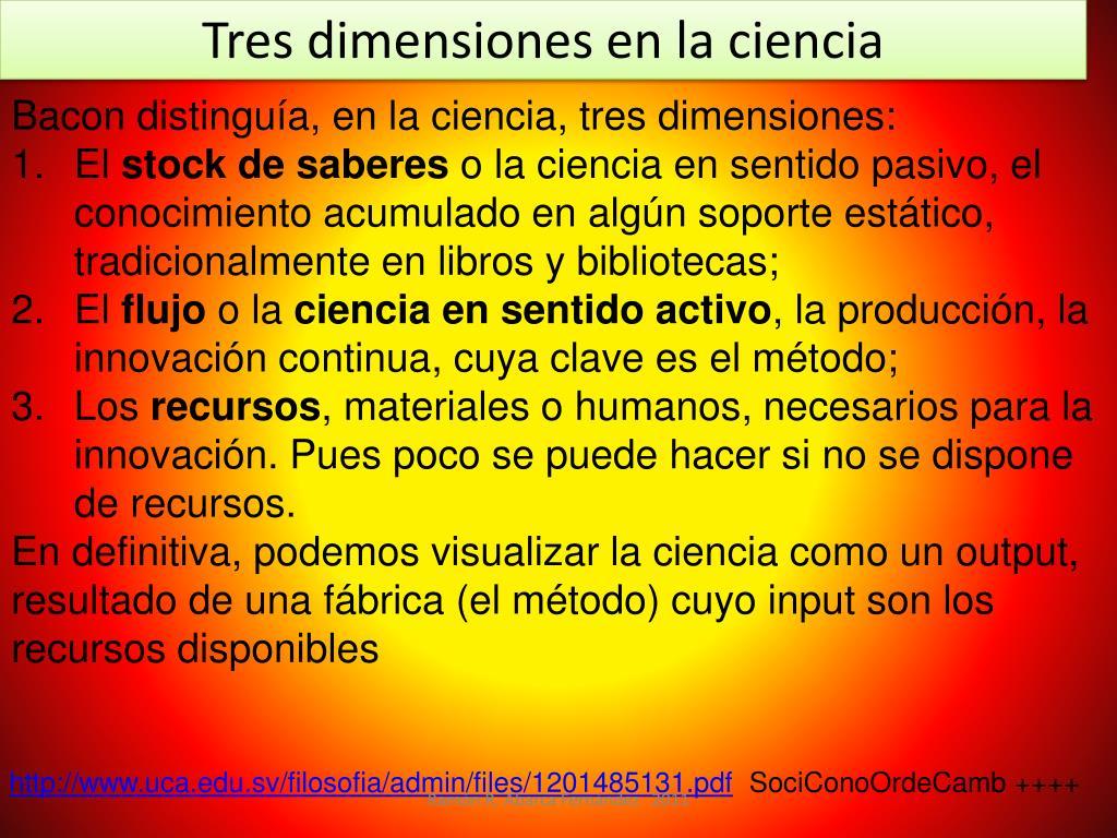 Tres dimensiones en la ciencia