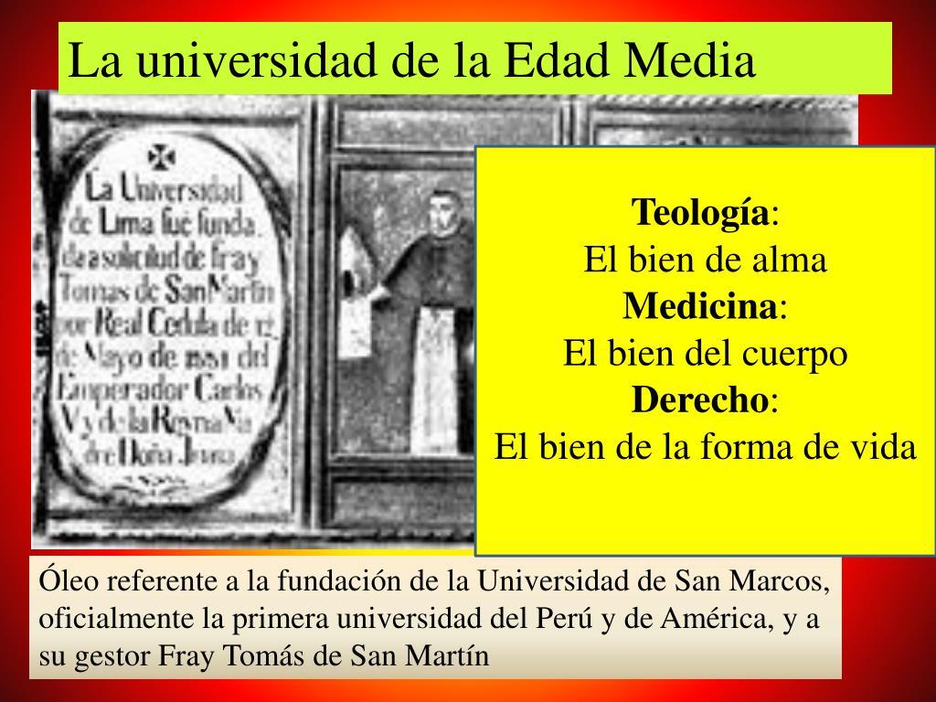 La universidad de la Edad Media