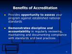 benefits of accreditation