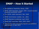 emap how it started