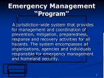 emergency management program