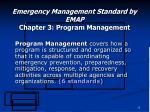 emergency management standard by emap chapter 3 program management