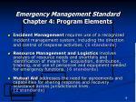 emergency management standard chapter 4 program elements18
