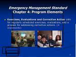 emergency management standard chapter 4 program elements21
