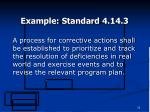 example standard 4 14 3