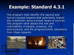 example standard 4 3 1