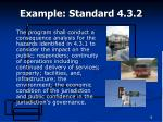 example standard 4 3 2