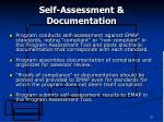 self assessment documentation