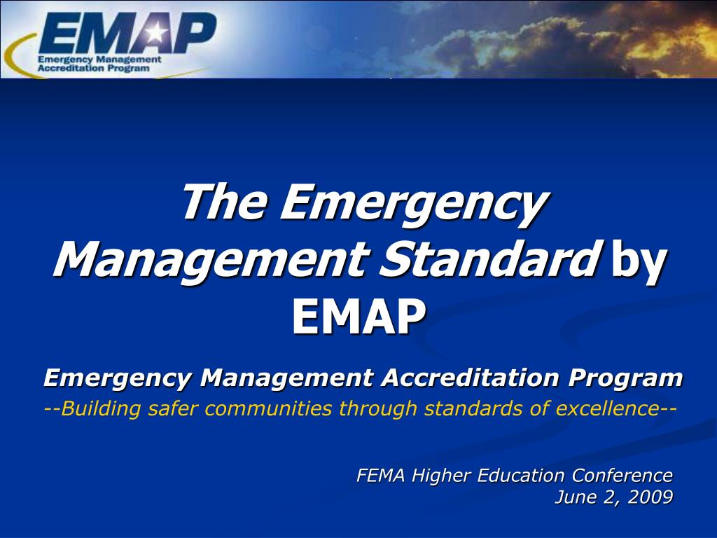 the emergency management standard by emap l.