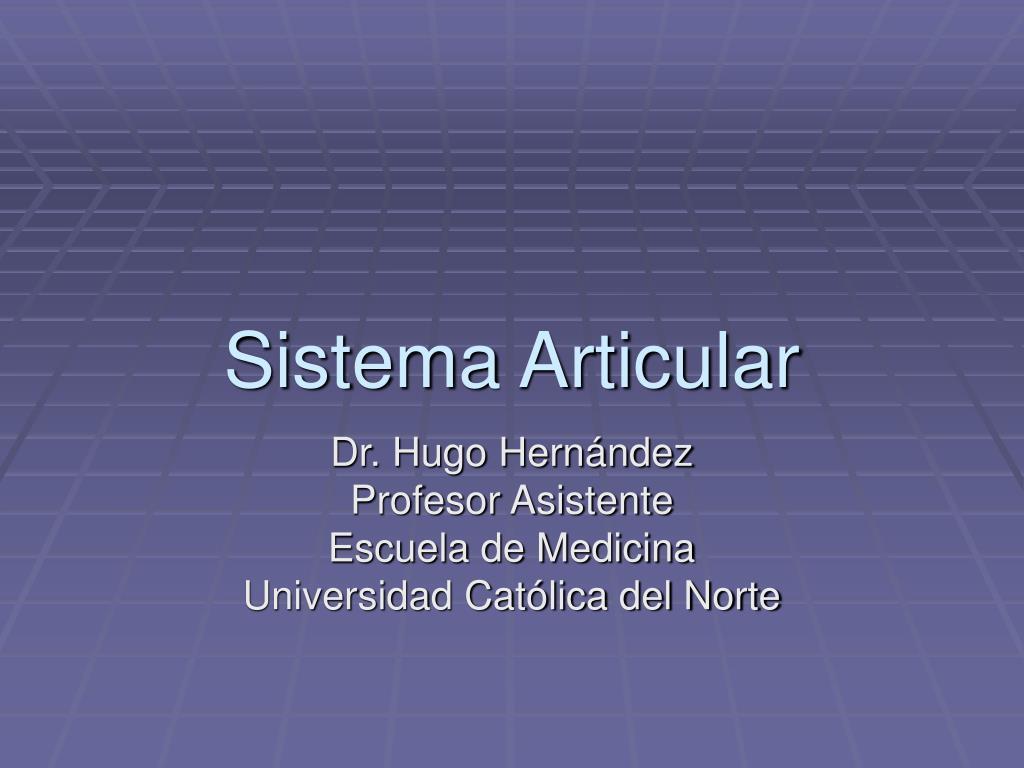 sistema articular l.