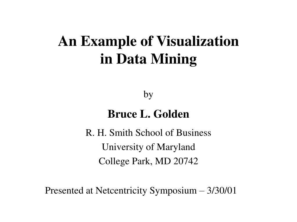 an example of visualization in data mining l.
