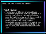 media objectives strategies and planning13