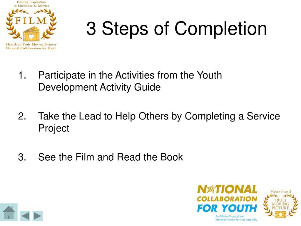 3 Steps of Completion