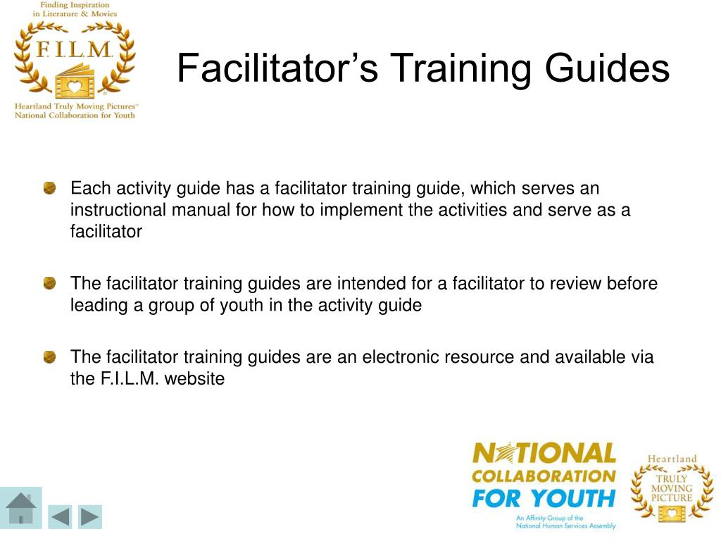 Facilitator's Training Guides