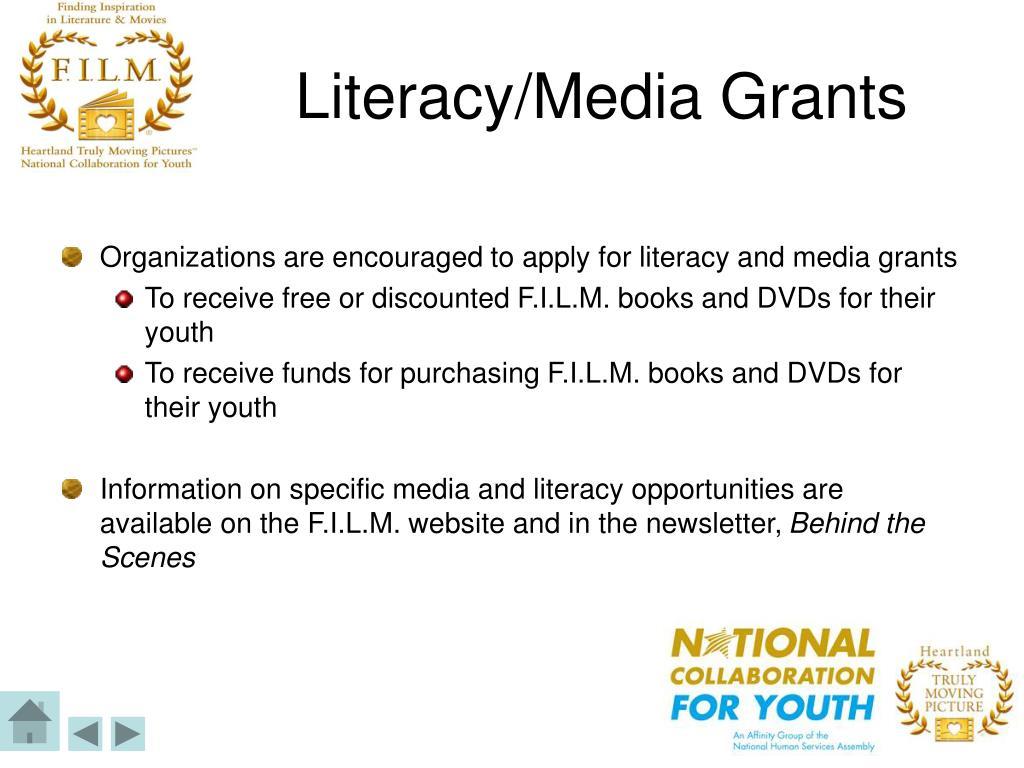 Literacy/Media Grants