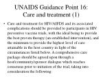 unaids guidance point 16 care and treatment 1