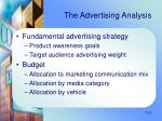the advertising analysis