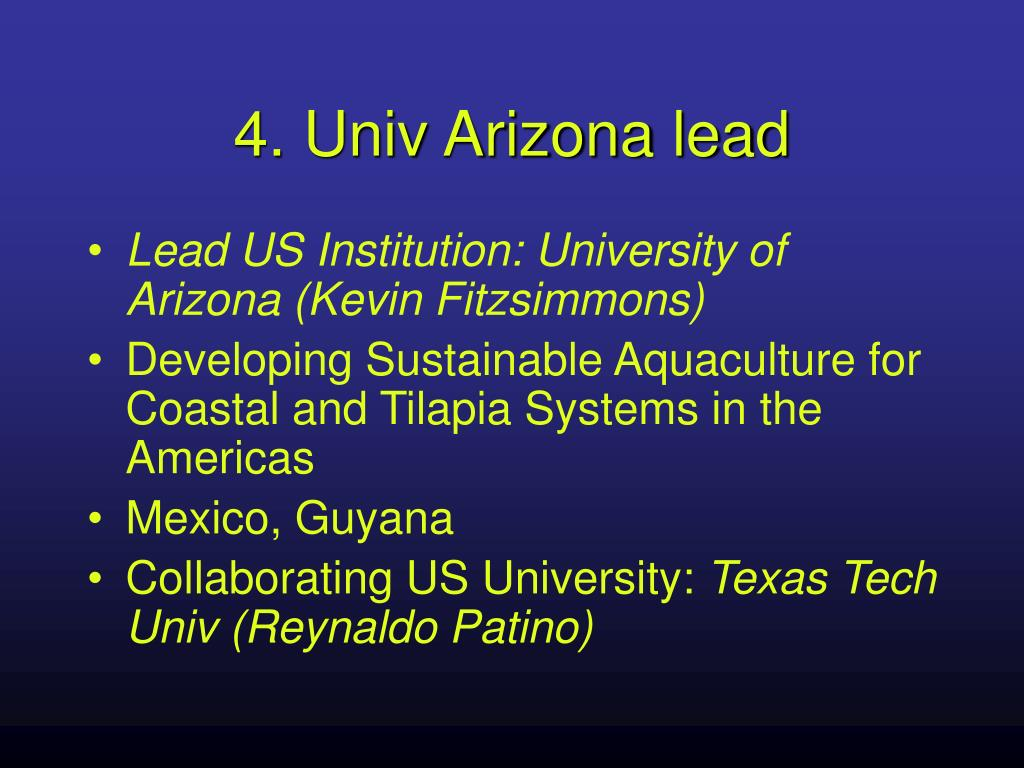 4. Univ Arizona lead
