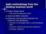 agile methodology from the desktop business world6